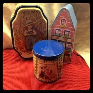 Vintage Home Decor Tins Lot